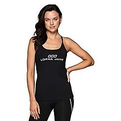 Lorna Jane - Black 'LJ Classic' excel tank top