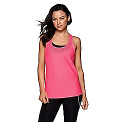 Lorna Jane - Pink 'Swift' active run tank top