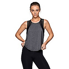 Lorna Jane - Grey 'Flux' active tank top
