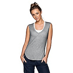 Lorna Jane - Grey 'Viola' tank top