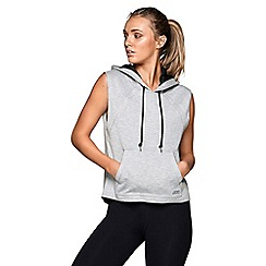 Lorna Jane - Grey 'Hipster' sleeveless hoodie