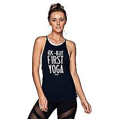 Lorna Jane - Blue 'Always Yoga' tank top