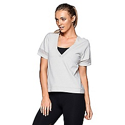 Lorna Jane - Grey 'Venture' short sleeve top