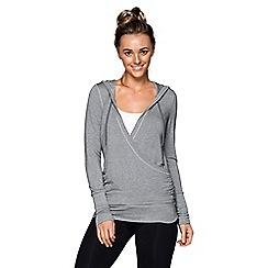 Lorna Jane - Grey 'LJ Lounge' hoodie