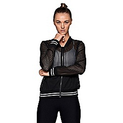 Lorna Jane - Black 'Sporty' bomber jacket