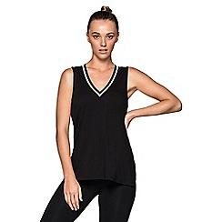 Lorna Jane - Black 'Fitster' lifestyle tank top