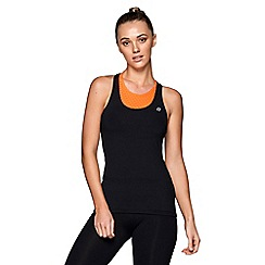 Lorna Jane - Black 'Sweat More' excel tank top