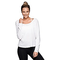 Lorna Jane - White 'Marichi' long sleeve top