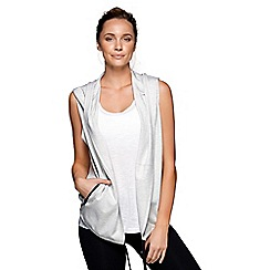 Lorna Jane - Light Grey It's A Wrap! Sleeveless Jacket