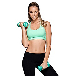 Lorna Jane - Light turquoise 'Fast Paced' sports bra