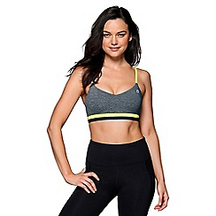 Lorna Jane - Grey 'Knock Down' sports bra