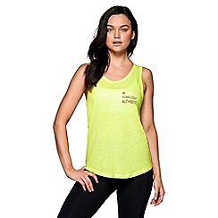 Lorna Jane - Neon 'Lemon Sorbet' marl authentic tank