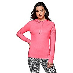 Lorna Jane - Bright pink 'Marl Annika' hooded excel pullover