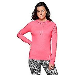 Lorna Jane - Pink marl 'Annika' hooded excel pullover