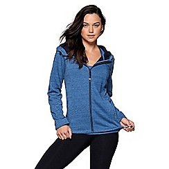 Lorna Jane - Blue 'Marl Classic' luxe active jacket
