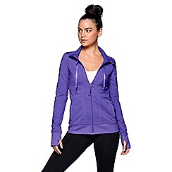 Lorna Jane - Purple 'Mona' long sleeve zip through