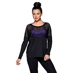 Lorna Jane - Black 'Evolve' long sleeve excel top