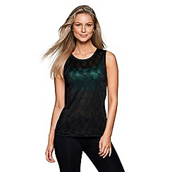 Lorna Jane - Black 'Powerful' excel tank