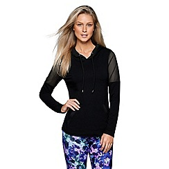 Lorna Jane - Black monochrome hoodie