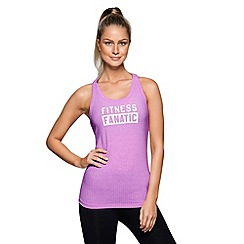 Lorna Jane - Soft lilac fitness fanatic tank