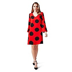 James Lakeland - Red and black polka dot dress
