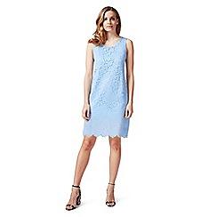 James Lakeland - Pale blue sleeveless lace dress