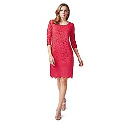 James Lakeland - Red 3/4 sleeves lace dress