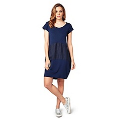 James Lakeland - Navy blue cotton dress
