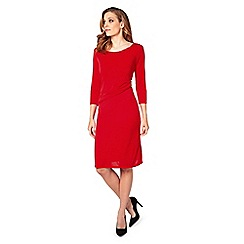 James Lakeland - Red dress with ruched side