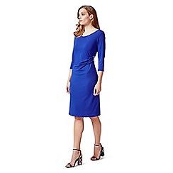 James Lakeland - Royal blue dress with ruched side