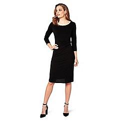 James Lakeland - Black dress with ruched side