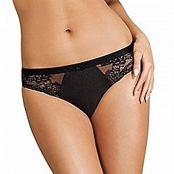 Lisca - Black 'Unique' lace and jacquard detail bikini briefs