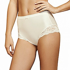 Lisca - Cream 'Unique' lace detail high briefs