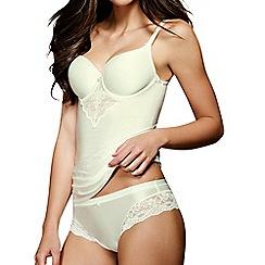 Lisca - Cream 'Unique' lace detail soft cup vest