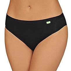 Lisca - Pack of two black organic cotton midi briefs