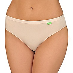 Lisca - Pack of two natural organic cotton midi briefs
