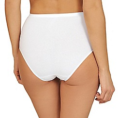 Lisca - Pack of two white organic cotton full briefs