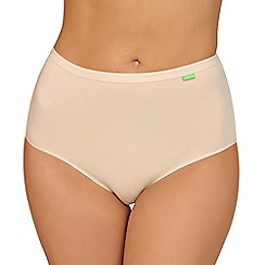 Lisca - Pack of two natural organic cotton full briefs