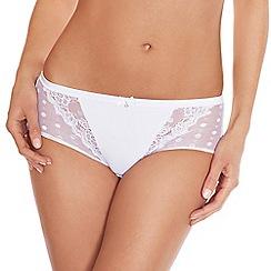 Lisca - White 'Irina' lace detail shorts