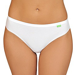 Lisca - Pack of two white organic cotton Brazilian briefs