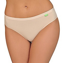 Lisca - Pack of two natural organic cotton Brazilian briefs