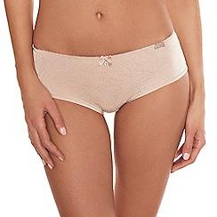 Lisca - Taupe 'Lorella' jacquard detail shorts