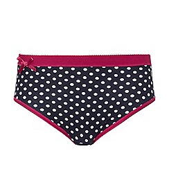 Ten Cate - Pack of two girls' 2 Navy dot bow briefs