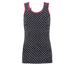 Ten Cate - Navy girls' dot bow vest