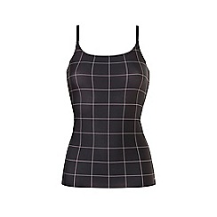 Ten Cate - Black print 'secrets' strappy vest