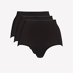 Ten Cate - 3 pack black cotton seamless full brief knickers