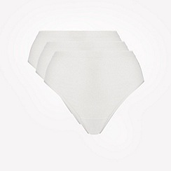 Ten Cate - 3 pack cream cotton seamless high leg knickers