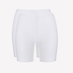 Ten Cate - 2 pack white cotton seamless long shorts