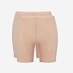 Ten Cate - 2 pack tan cotton seamless long shorts