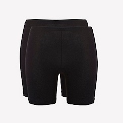 Ten Cate - 2 pack black cotton seamless long shorts